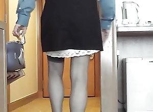 Crossdressers (Gay);HD Gays;Stocking Tops;Black and White;White Black;Showing;White;Black Showing my white...