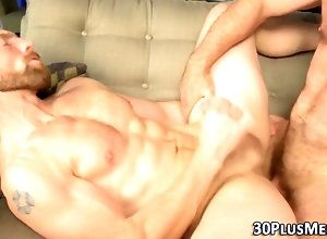 anal,cumshot,fucking,sucking,bear,hunk,masturbation,muscle,tattoo muscle bear sucks...