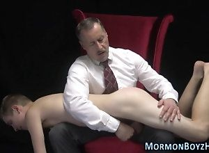 sucking,mature,spanking,pale Mormon elder...