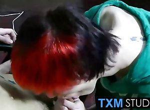 blowjob Emo redhead twink...