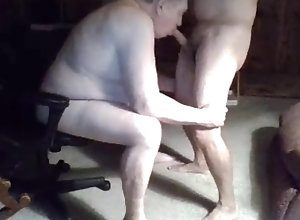 Blowjobs (Gay);Daddies (Gay);Masturbation (Gay);Old+Young (Gay);HD Gays grandpa suck on...