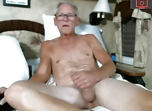 Amateur (Gay);Handjob (Gay);Masturbation (Gay);Webcam (Gay);Skinny (Gay) horny old man in cam