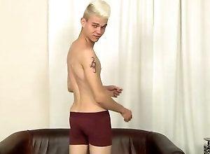 Gay,Gay Twink,titus snow,solo,masturbation,blond hair,short hair,cum jerking off,british,twink,underwear,gay Stroking With...
