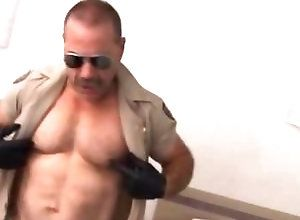 Gay,Gay Bear,Gay Masturbation Solo,Gay Uniform,Gay Daddy,gay,daddy,bear,solo masturbation,uniform,nipple play,cum jerking off Muscled Gay Bear...