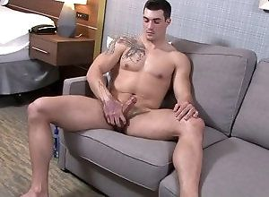 Gay,Gay Muscled,Gay Masturbation Solo,brunette,muscular,solo,tattoo,smooth,masturbation,young men,gay Scott