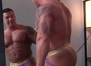 Gay,Gay Muscled,Gay Underwear,Str8 to Gay,gay,muscled,underwear,mirror,tattoo,gay fuck gay,gay porn,riding,men Musclebate - STG...