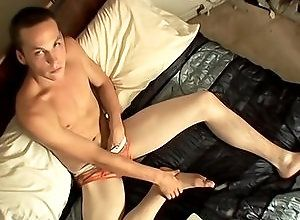 Gay,Gay Feet/Foot Fetish,Gay Masturbation Solo,puppy,solo,masturbation,foot fetish,brown hair,average dick,short hair,young men,cum jerking off,in the bedroom,american,underwear A Fot Rub And A...