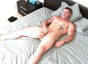 Gay,Gay Muscled,Gay Masturbation Solo,tattoo,solo masturbation,muscled,young men,big muscles,bedroom,gay Jeremy Diesel,...