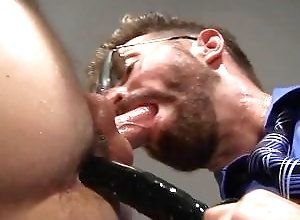 Gay,buttplay,sex toys,ass shot,blowjob,men,big dildo,glasses,bearded,gay porn,cumshot,facial Fist Pumpers,...