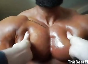 Big Cock (Gay);Hunk (Gay);Massage (Gay);Masturbation (Gay);Muscle (Gay) Flex Pecs