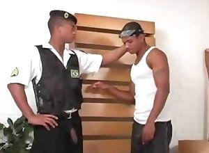 Gay,Gay Black,Gay Muscled,Gay Uniform,gay,uniform,black,muscled,blowjob,large dick,young men,gay porn Black Thug Tastes...