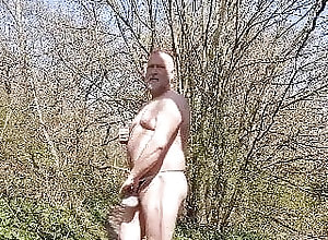 Daddy (Gay);Masturbation (Gay);Outdoor (Gay) My First Outdoor...