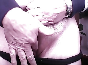Men (Gay) Black Panties Clit