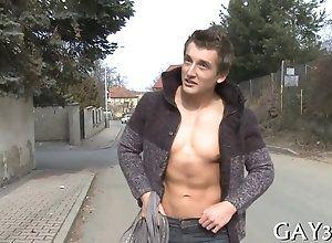 blowjob,hardcore,public,gay Bald guy gets his...