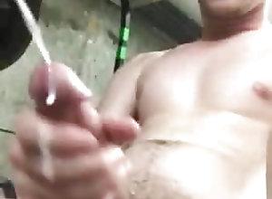 Men (Gay) Cum at work