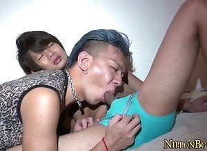 hd,skinny Asian gets banana...