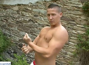 bfcollection;jerking-off;bust;a;nut;outdoor;masturbation;masturbating;masturbation;cum;stroking-cock;rubbing;ass;hunk;solo-male;striptease;big-dick;large;cock;nice;dick;close-up,Muscle;Solo Male;Gay Michael Busts A...