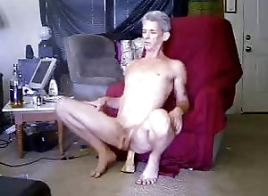 Amateur (Gay);Masturbation (Gay);Sex Toys (Gay);Rides Dildo darrel rides dildo