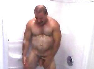 Gay,Gay Bear,Gay Masturbation Solo,Gay Daddy,Gay Bath/Shower,gay,masturbation,daddy,shower,average dick,solo,bear,men,bathroom,cum jerking off Daddy Bear...