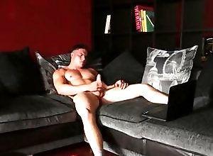 Gay,Gay Muscled,Gay Masturbation Solo,Gay Pornstar,harry coniston,masturbation,brown hair,large dick,short hair,cum jerking off,british,solo,young men,muscled,smooth,gay,pornstar Stroking To Porn...